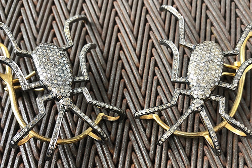DIAMONDS, 14K GOLD, SILVER EAR CUFFS