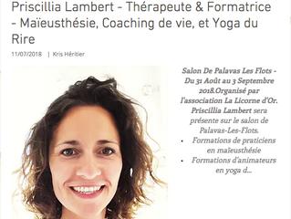 Yoga du rire Formations SALON du Bien-être PALAVAS Priscillia Lambert