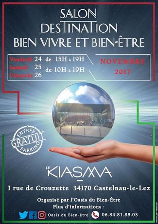 """SALON """" BIEN VIVRE et BIEN ETRE"""" DU 24 au 26 novembre 2017. Présentation de la MAIEUSTHESI"""