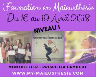 FORMATION MAIEUSTHESIE MONTPELLIER Avril 2018 - Priscillia Lambert