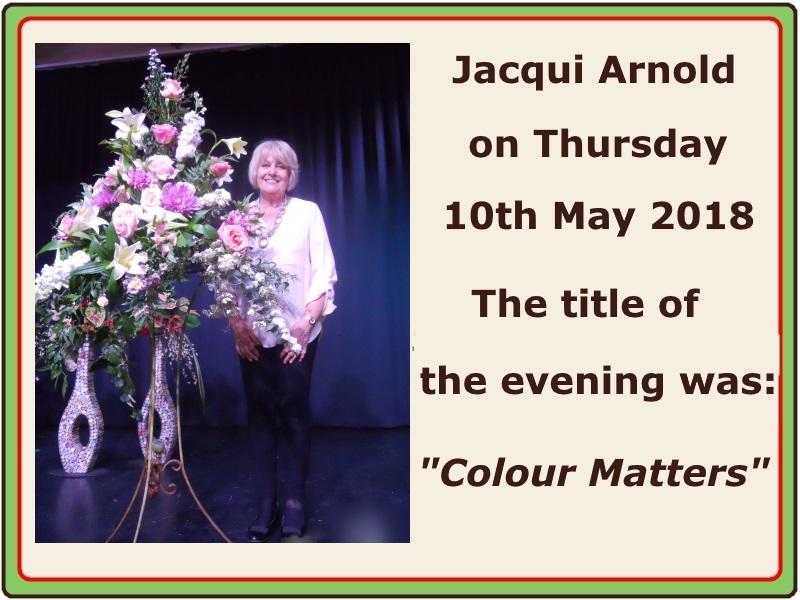 2018 05 May Jacqui Arnold