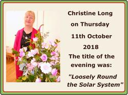 2018 10 11 Christine Long