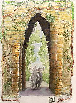 Michele Kruck-Elephants at Angkor-SPECIA