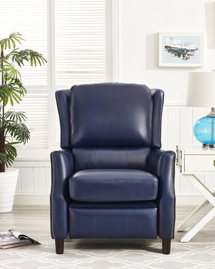 SINGLE RECLINER - BLUE