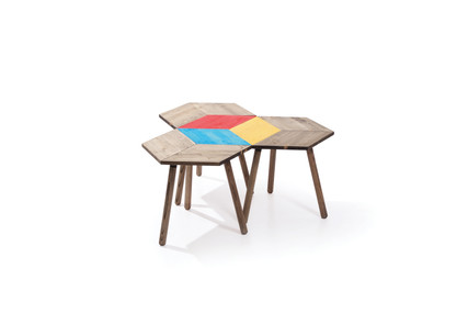 Rustic Hexagon Bedside Tables