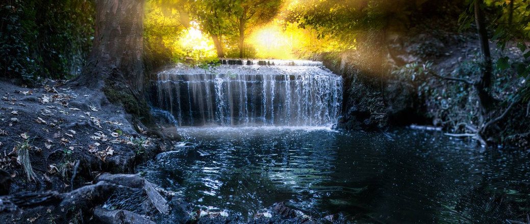 waterfall_by_the_sun_by_e_a_photography_