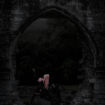 gothic_princess_by_night_in_ruins_by_e_a