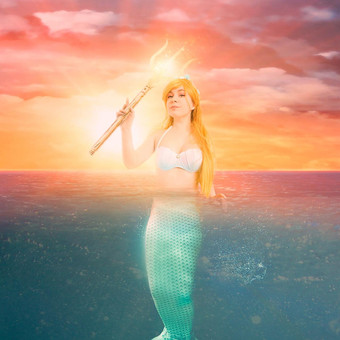 mermaid_in_the_ocean_by_sunset_by_e_a_ph