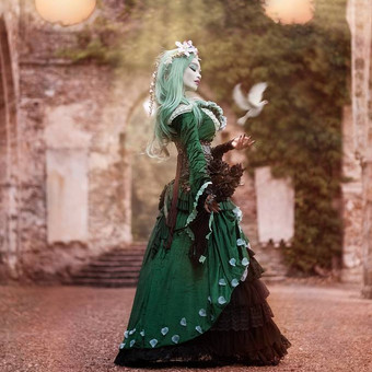 gothic_princess_in_ancient_ruins_by_e_a_