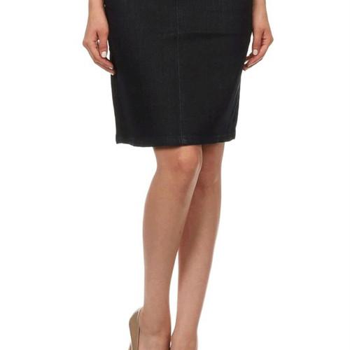 Mid length modest denim skirts