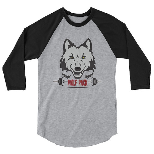 Adult Wolf Pack 3/4 sleeve raglan shirt