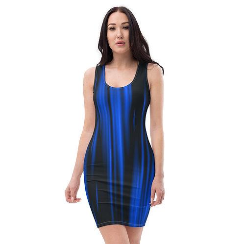 Blue Slick Back Dress