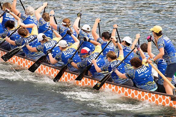 DSA Dragon Boat Club racing at Darling Harbour Lunar New Year