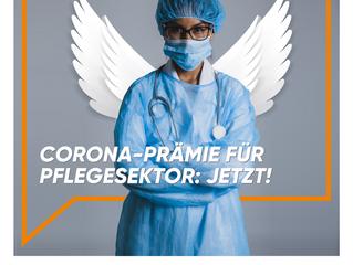 """Corona–Prämie für Pflegesektor: Jetzt!"""