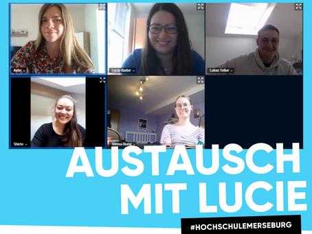 Austausch mit Lucie von der Hochschule Merseburg