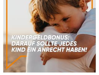 """""""Kindergeldbonus: Darauf sollte jedes Kind ein Anrecht haben!"""""""