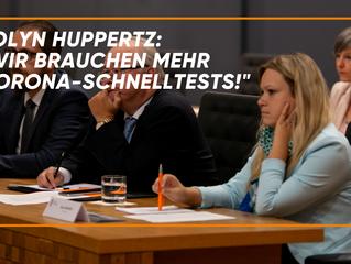 """Jolyn Huppertz: """"Wir brauchen mehr Corona-Schnelltests!"""""""