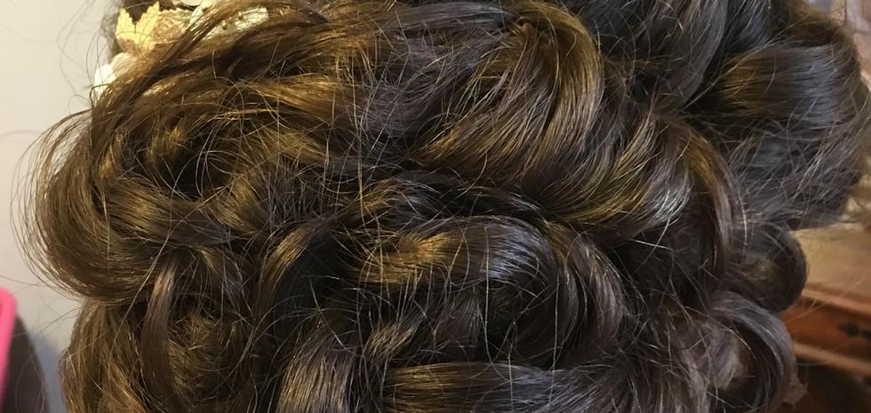 Bridesmaids hair , soft upstyle