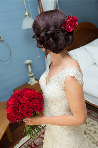 Sarah, red roses, Southern Highlands, Sutton Forest