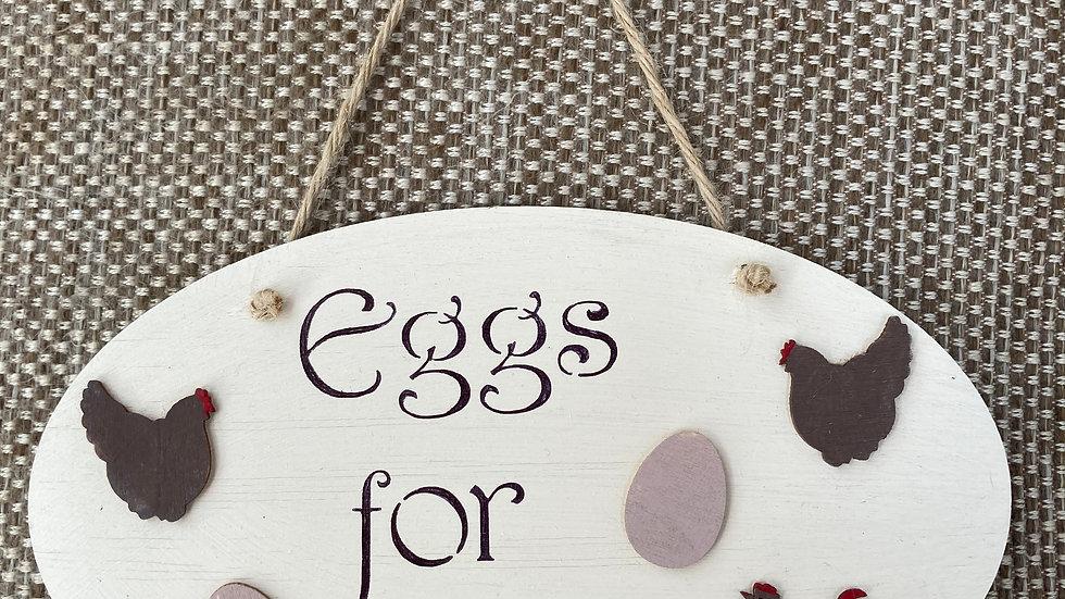 """Plaque """"Eggs for sale"""""""