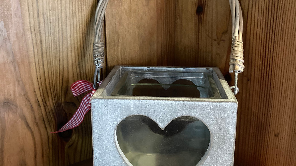 Tea Light Holder (Wood and Glass)