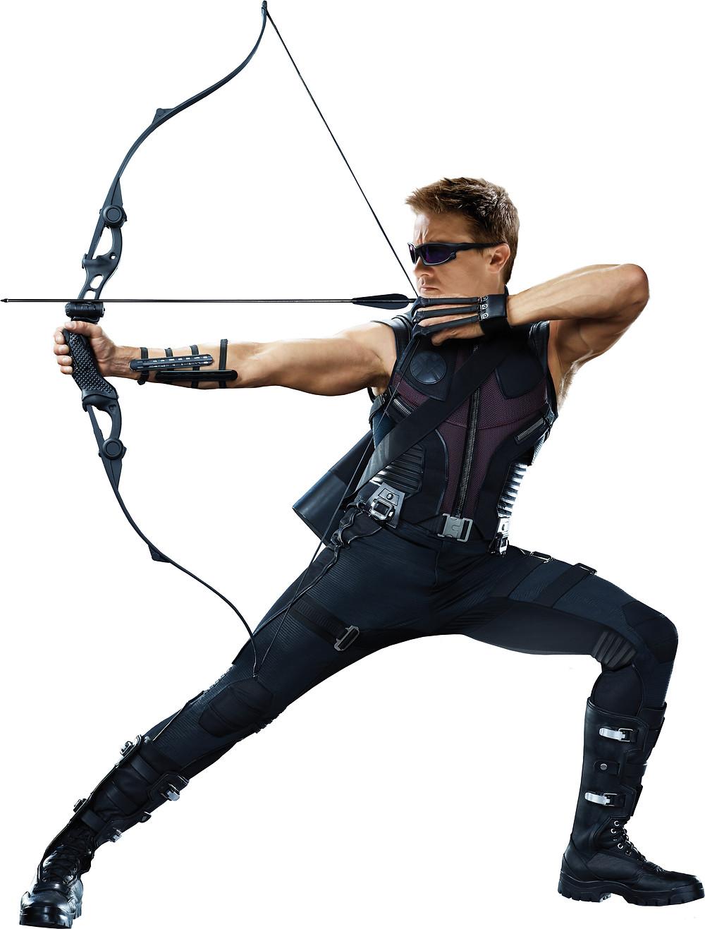 Hawkeye shooting his arrow