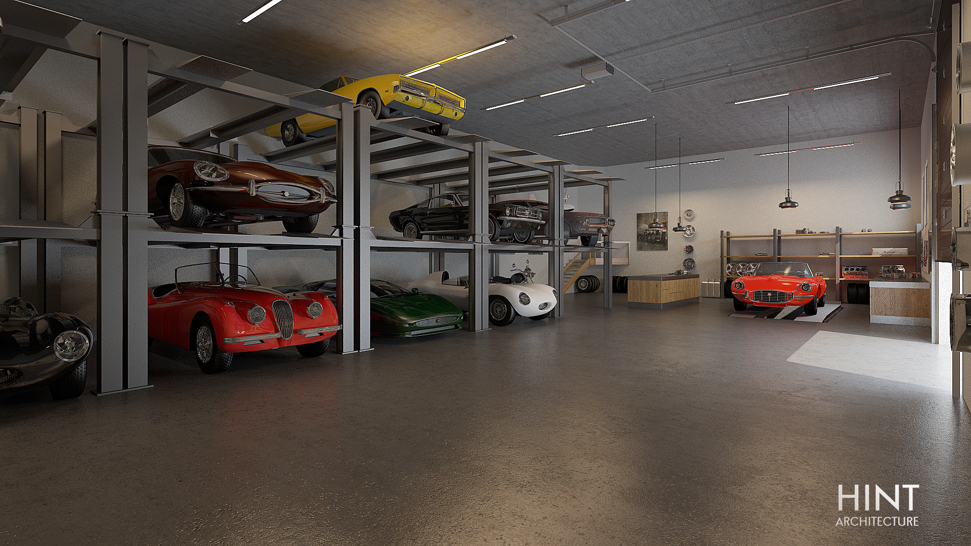 The car storage room