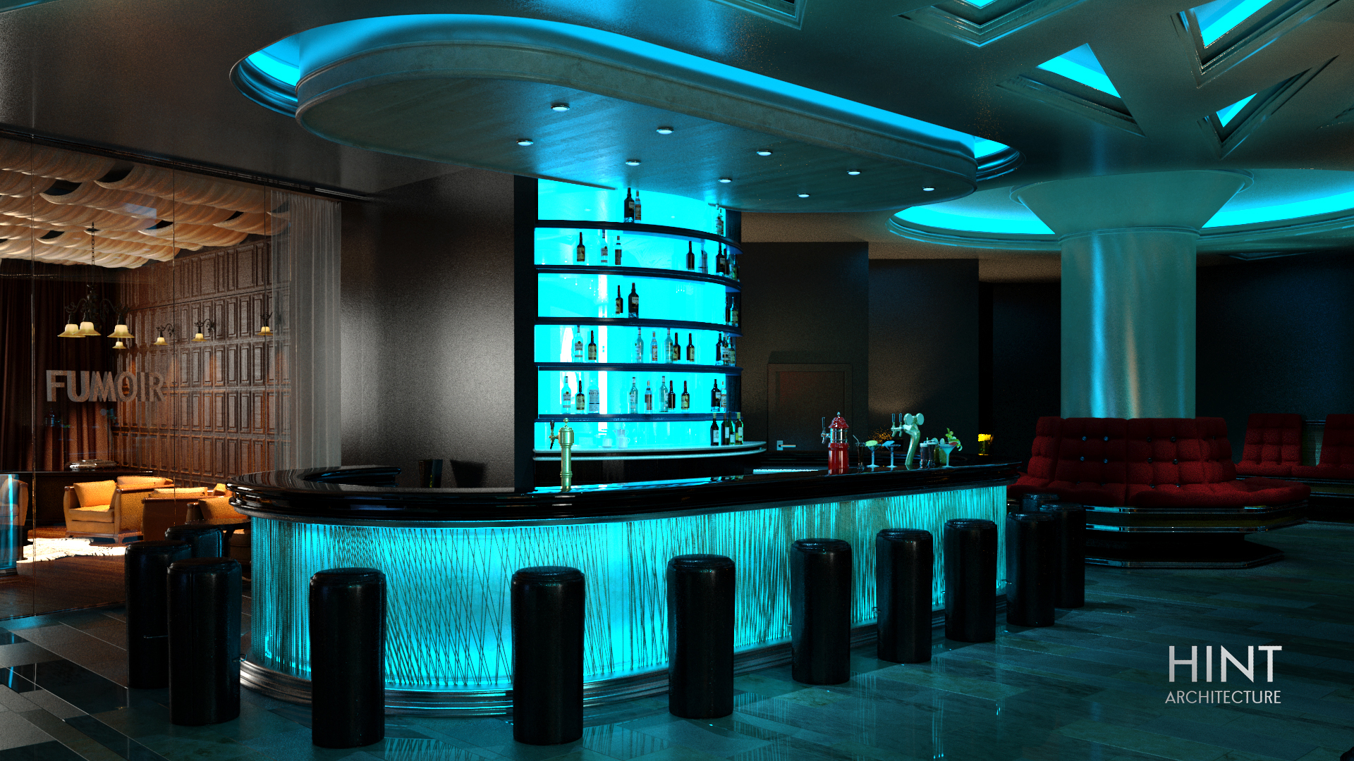 Luxury Bar Serving Area