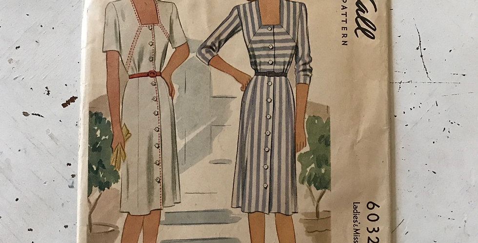 McCall Vintage 40's Women's Dress Pattern