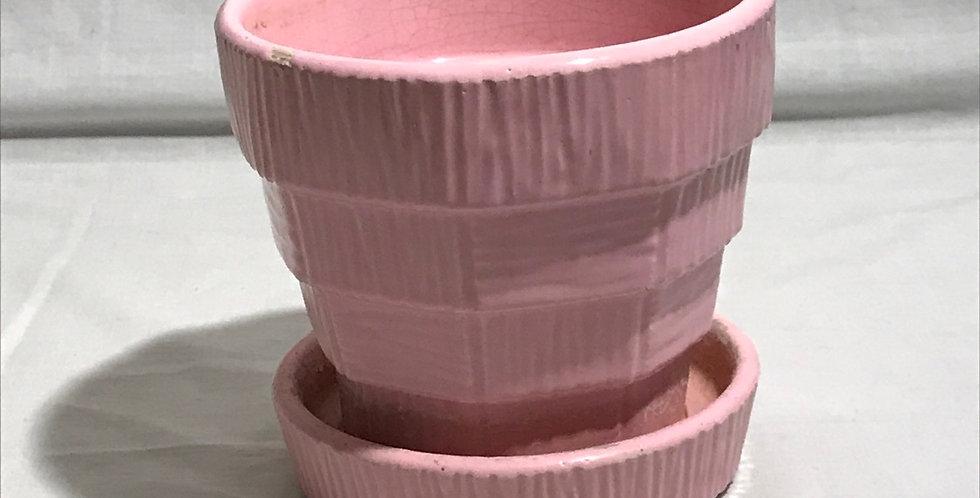 McCoy Pink Basketweave Planter