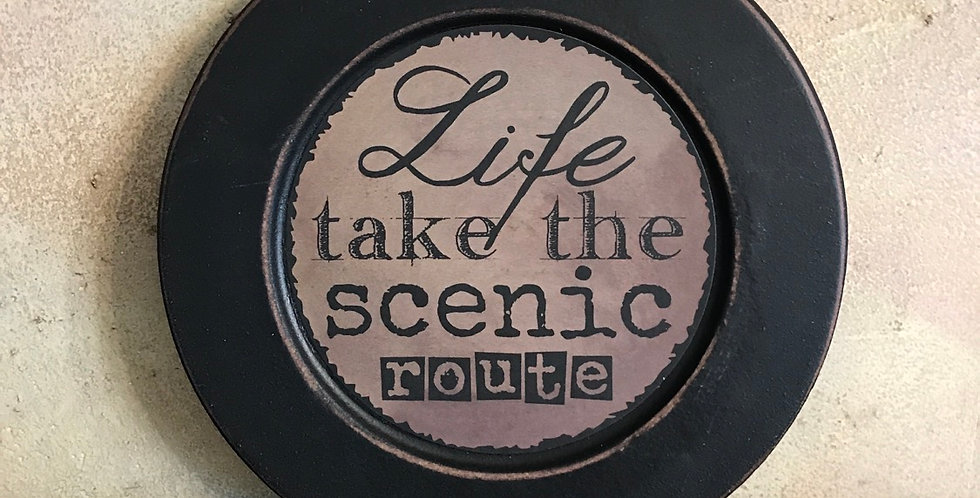 Take The Scenic Route Plate