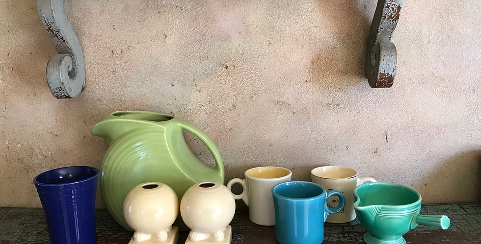 Vintage Fiesta Chartreuse Disc Water Pitcher 1950's