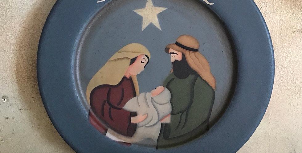 Believe Nativity Plate