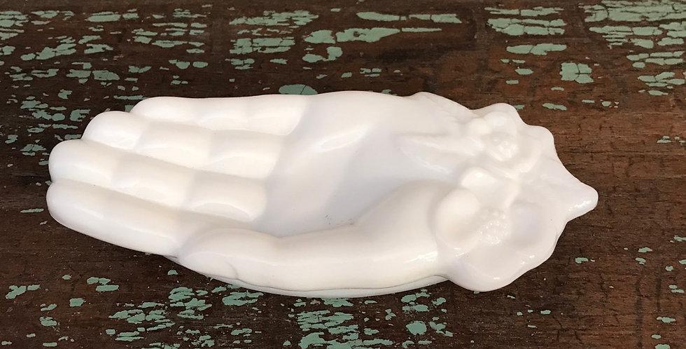 Avon Milk Glass Hand