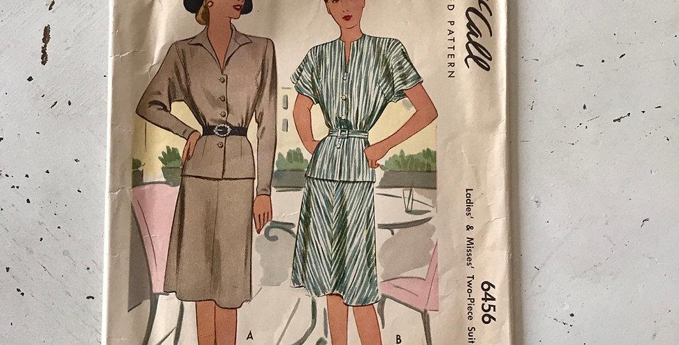 McCall Vintage 2 piece Dress Pattern