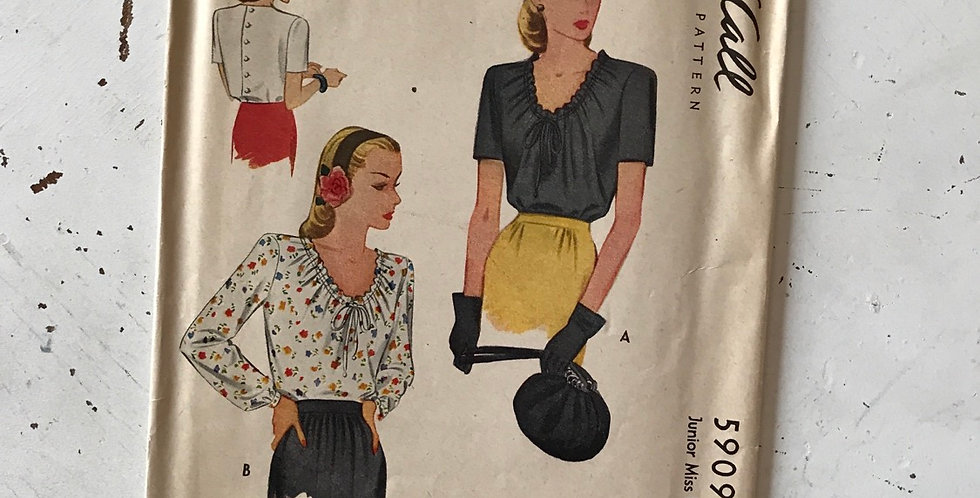McCall Blouse Pattern Vintage 40's
