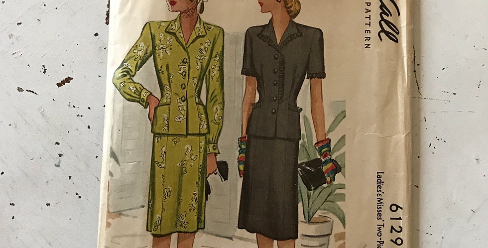 Vintage McCall Pattern Complete 6129