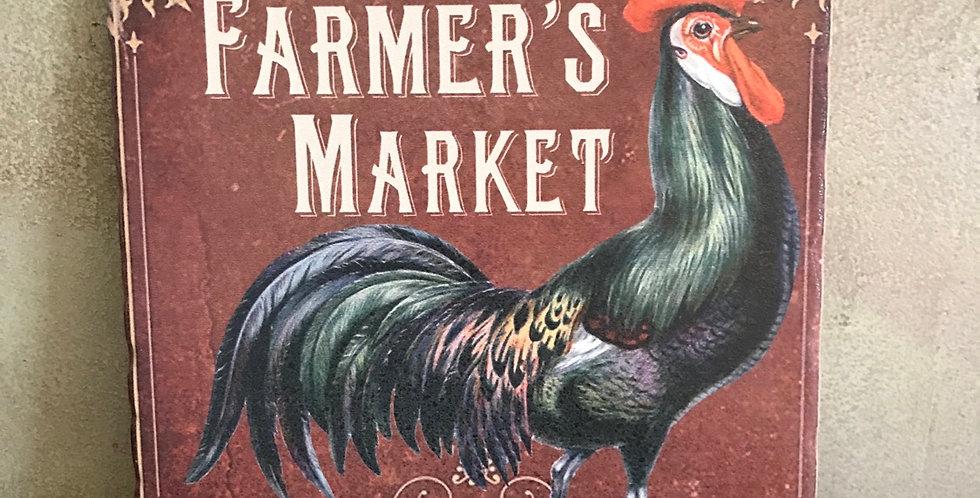 Farmers Market Ceramic Trivet