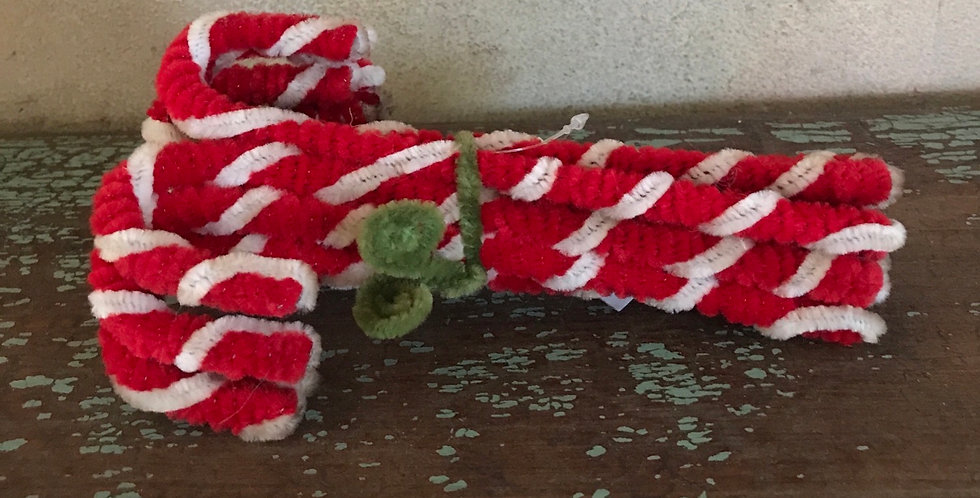 Chenille Candy Canes