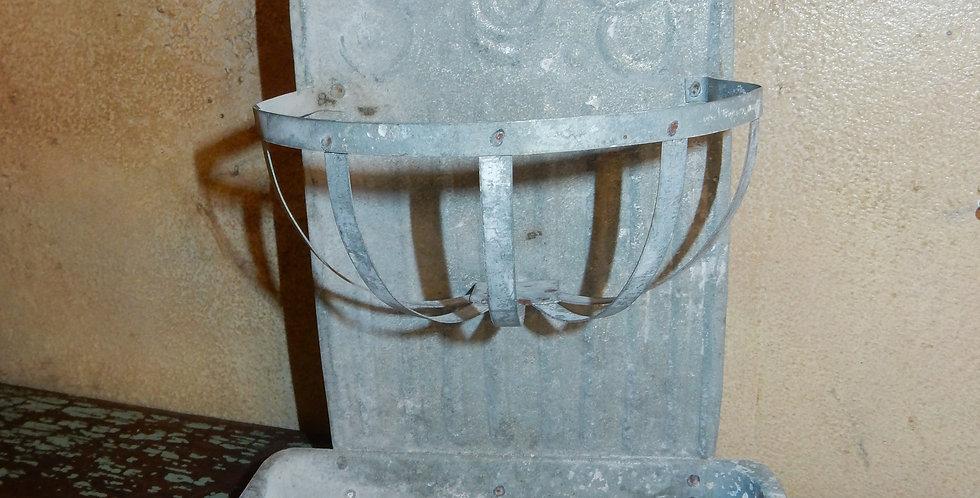 Galvanized Tin Soap Dish Holder Vintage Style
