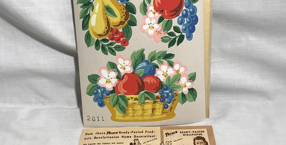 Trimz Kut-Outs Fruit Basket Decal NOS