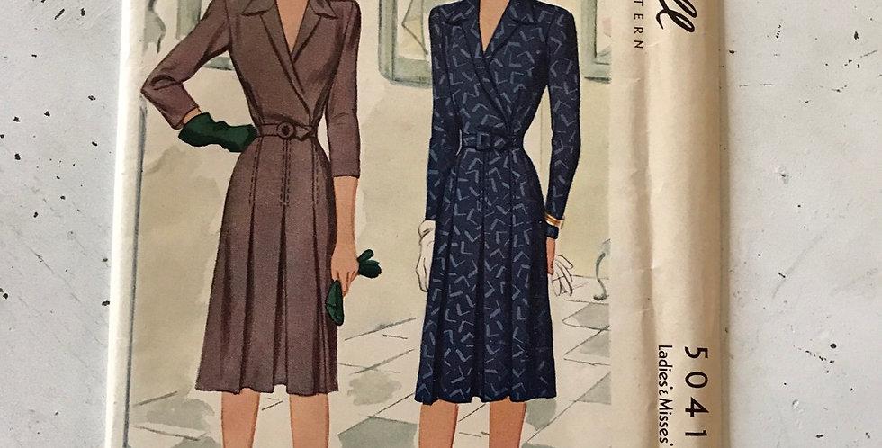 Vintage Unused McCall Pattern Faux Wrap