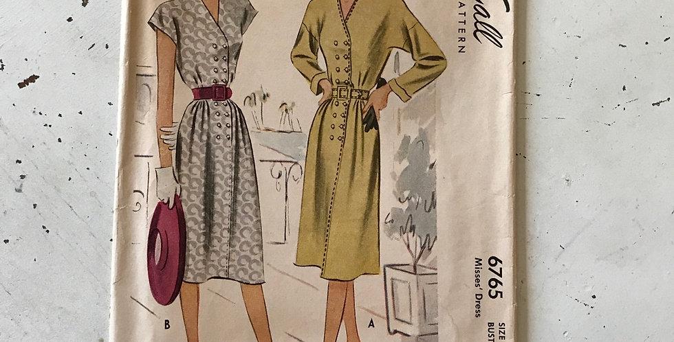 McCall Vintage Dress Pattern Uncut