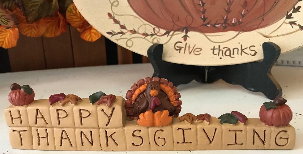 Resin Block Happy Thanksgiving