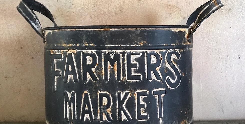 Farmers Market Tin Bucket
