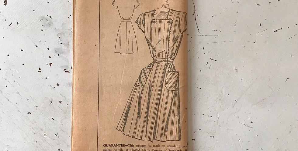 Vintage Fashion Dress Pattern Unused