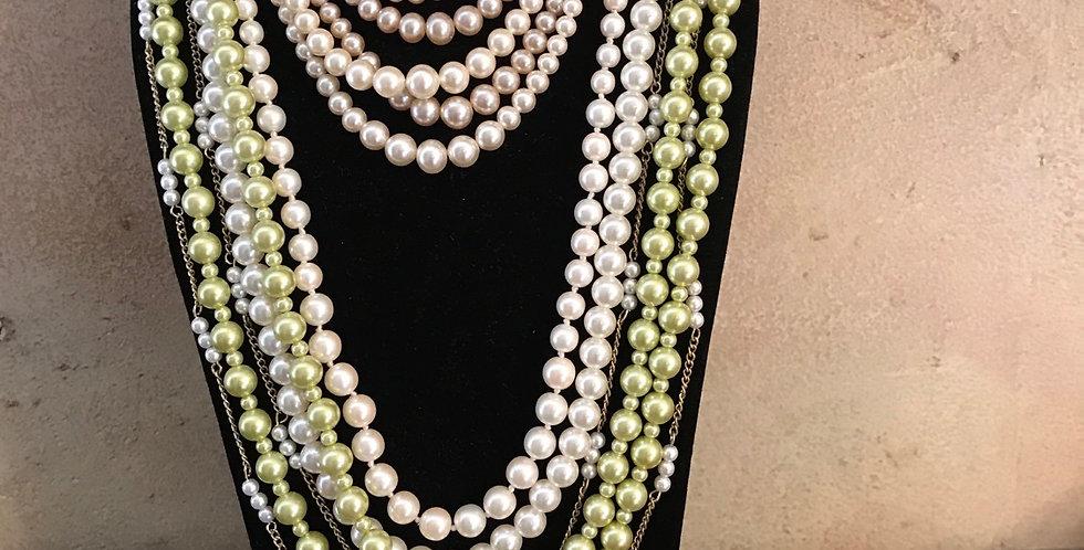Vintage Lot of Faux Pearl Necklaces/Bracelet