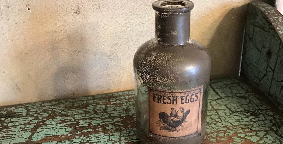 Fresh Eggs Vintage Style Jar