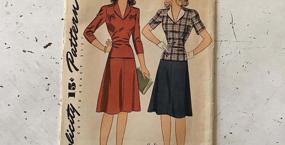 Simplicity Vintage Dress Pattern Unused