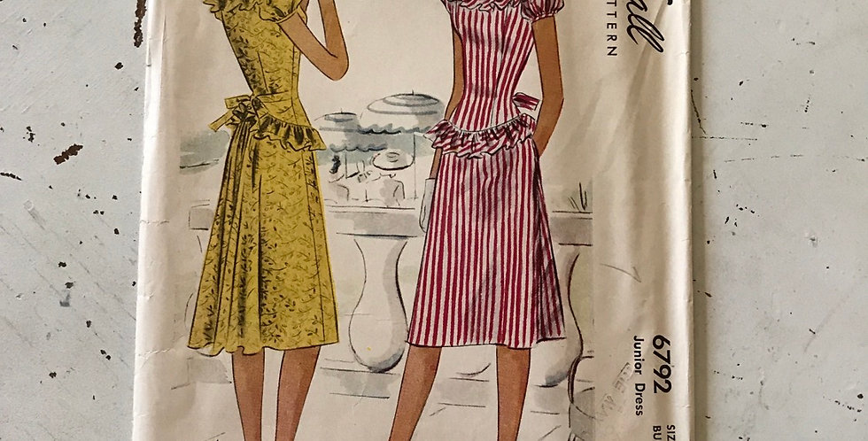 McCall Vintage 40's Dress Pattern